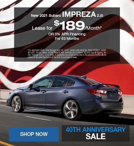 New 2021 Subaru Impreza 2.0i - April