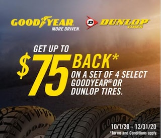 Goodyear Dunlop: Get Up to $75 Back*