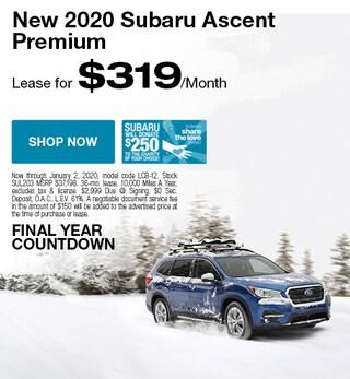 New 2020 Subaru Ascent - December Special