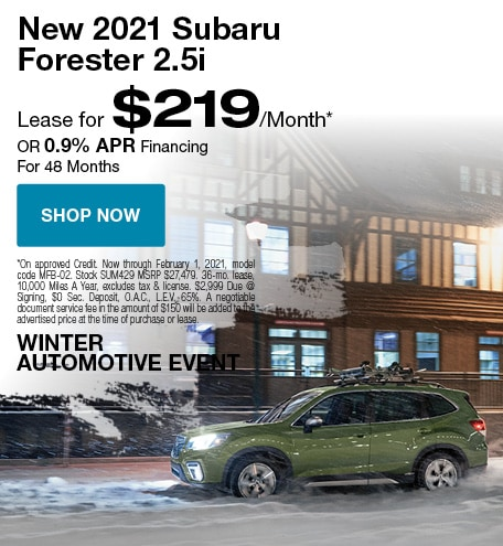 2021 Subaru Forester January Special