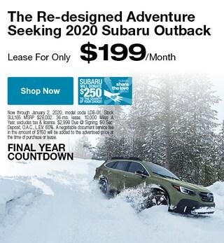 Redesigned 2020 Subaru Outback - December Specials
