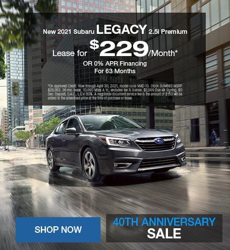New 2021 Subaru Legacy 2.5i Premium - April