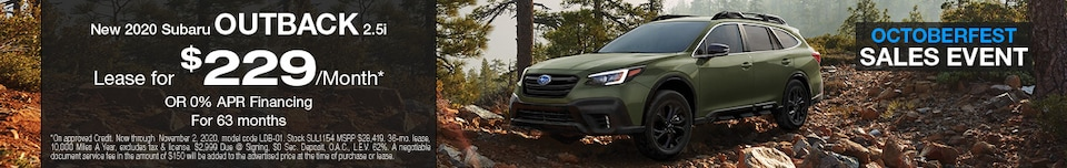2020 Subaru Outback October Special