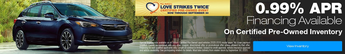 Love Strikes Twice CPO Finance Offer