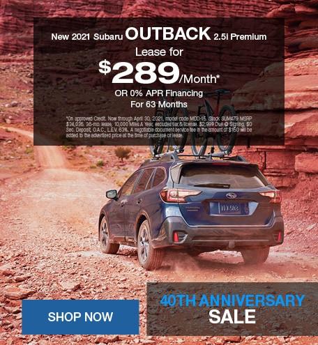 New 2021 Subaru Outback 2.5i Premium - April