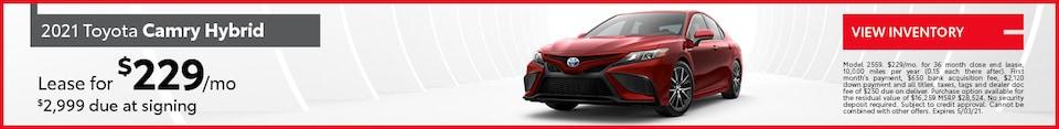 2021 Toyota Camry Hybrid | April