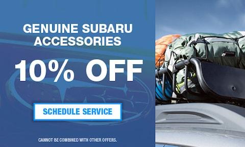 Genuine Subaru Accessories 10% Off