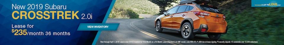 New 2019 Subaru Crosstrek 2.0i