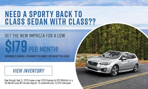 Get the new Impreza for a low