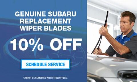 Genuine Subaru Replacement Wiper Blades 10% Off