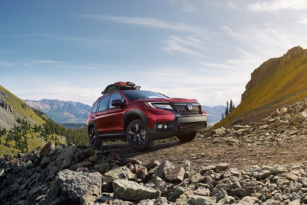 All New Honda Passport in the mountains