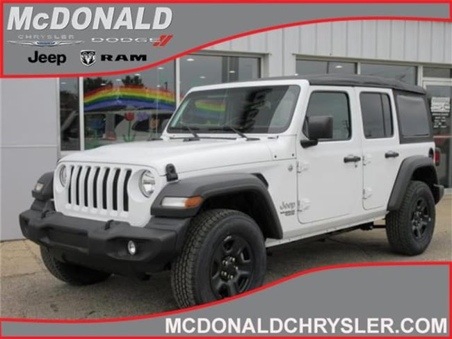 New 2018 Jeep Wrangler UNLIMITED SPORT 4X4 Sport Utility Near Saginaw