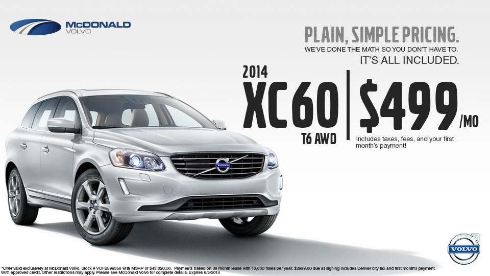 Volvo Dealer Denver >> New Volvo Xc60 Sale Near Denver Co At Mcdonald Volvo