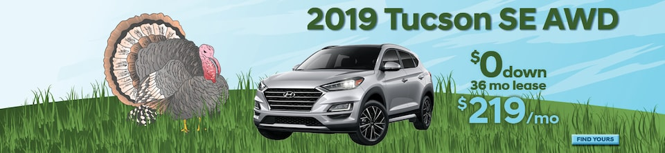 ZERO Down Lease! 2019 Tucson SE AWD