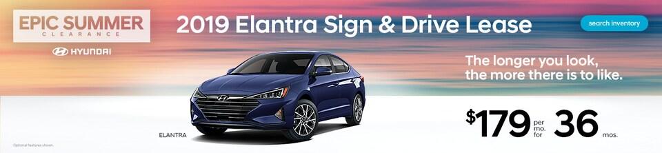 2019 Elantra Sign & Drive Lease at $179/mo!