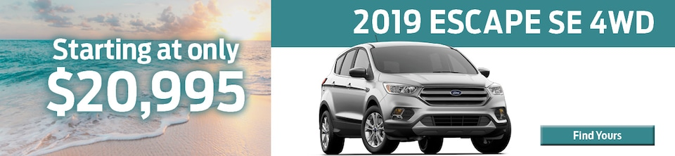 Brand New 2019 Escape SE 4WD Starting at Only $20,995!