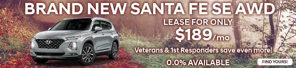 Lease a Brand New Santa Fe SE AWD for Only $189/mo