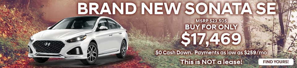 Buy a Brand New Sonata SE For Only $17,469