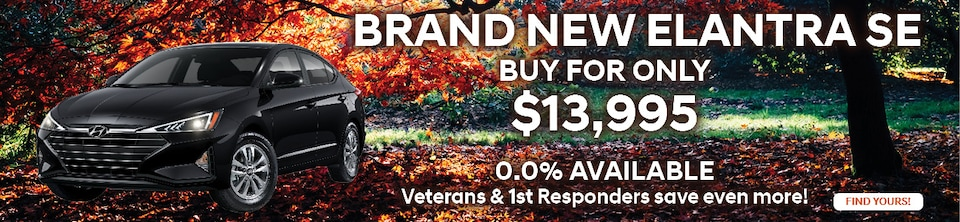 Buy a Brand New Elantra SE for Only $13,995!
