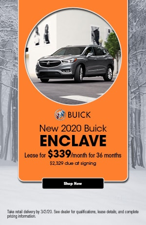 2020 Buick Enclave - February Lease Offer