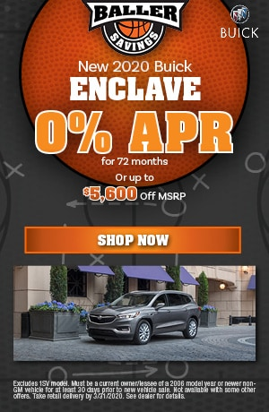 2020 Buick Enclave - March Finance Offer