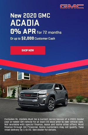 2020 GMC Acadia - January Offer