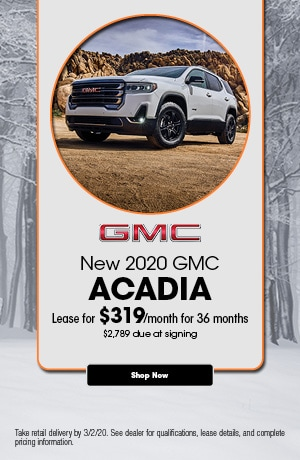 2020 GMC Acadia - February Lease Offer