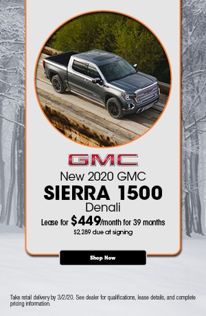 2020 GMC Sierra 1500 - February Lease Offer