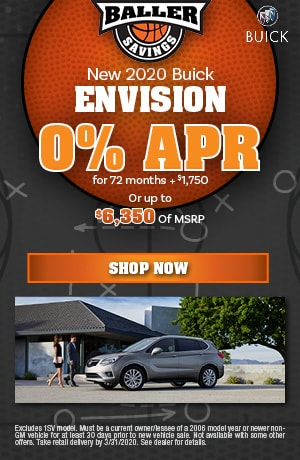 2020 Buick Envision - March Finance Offer