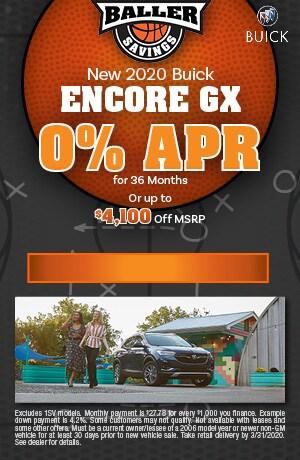 2020 Buick Encore GX - March Finance Offer