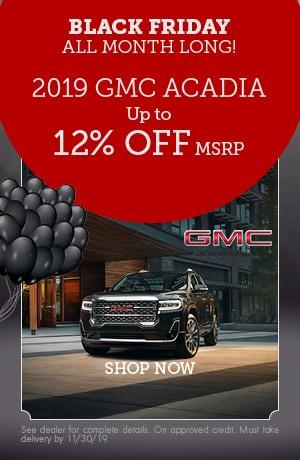 2019 GMC Acadia - November Offer