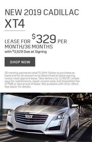 2019 Cadillac XT4 - November Offer