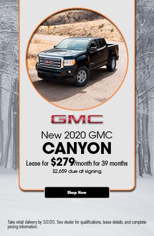 2020 GMC Canyon - February Lease Offer