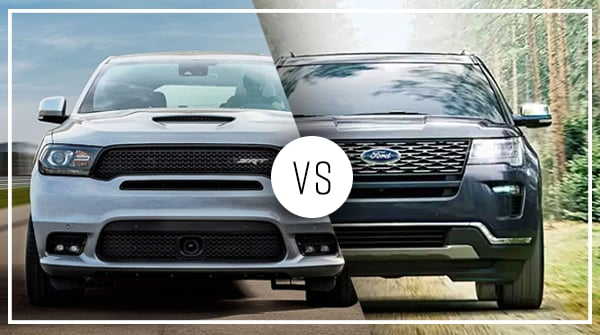 Comparison: 2019 Dodge Durango vs 2019 Ford Explorer