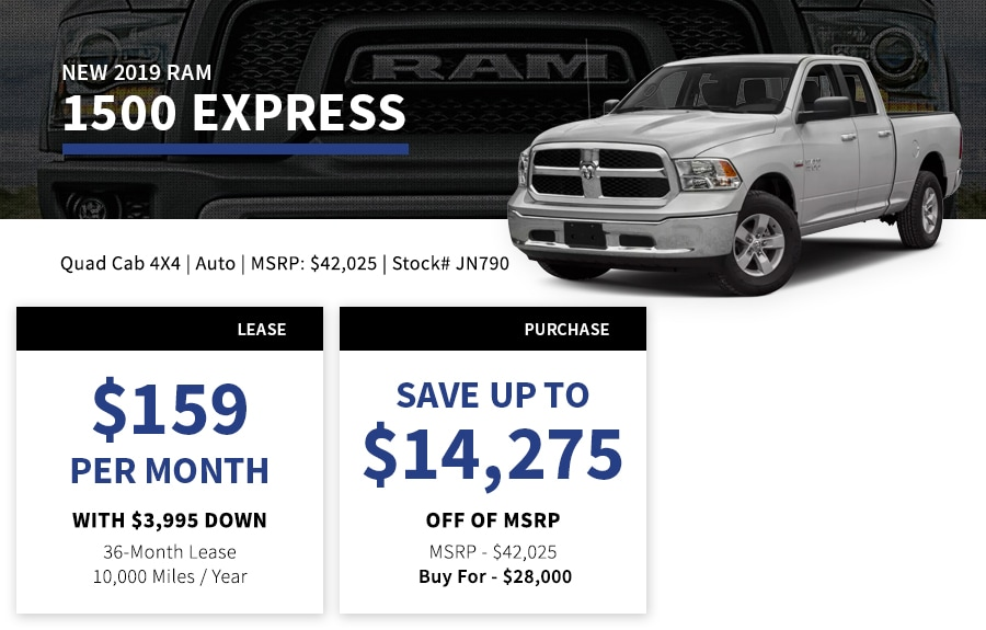 New Ram 1500 Special Offer