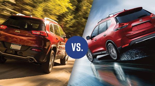 Comparison: 2017 Jeep Cherokee vs 2017 Nissan Rogue ...