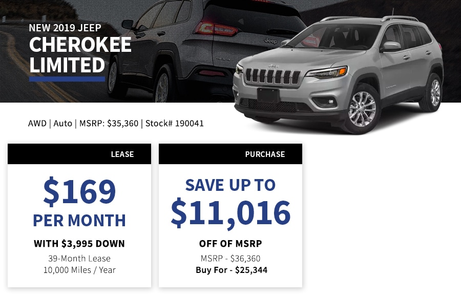 New Jeep Cherokee Special Offer