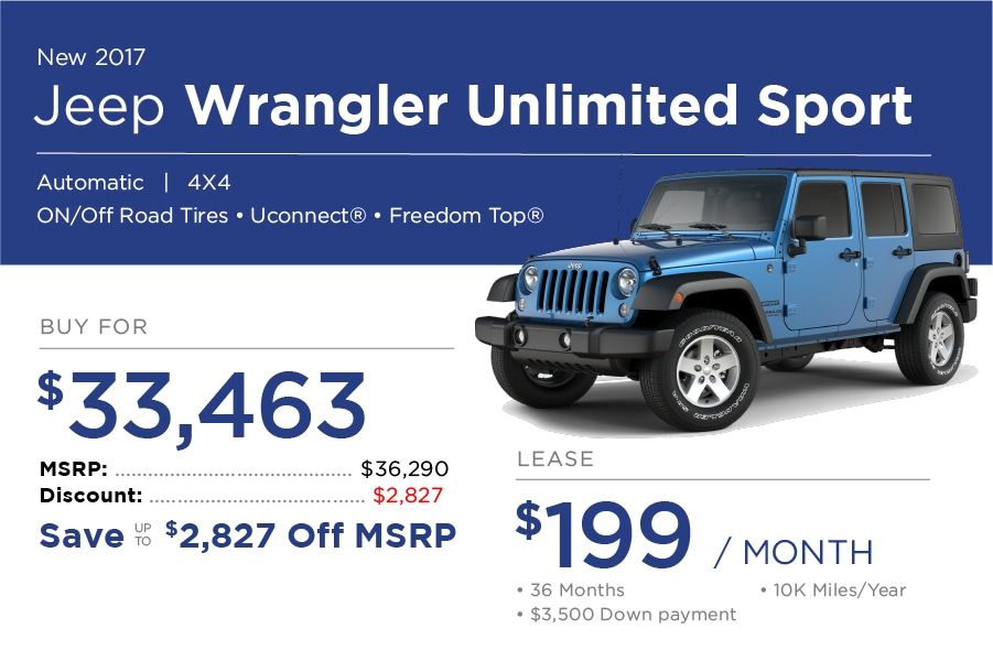 Jeep Wrangler Special Offer