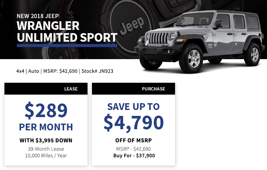 New Jeep Wrangler Special Offer