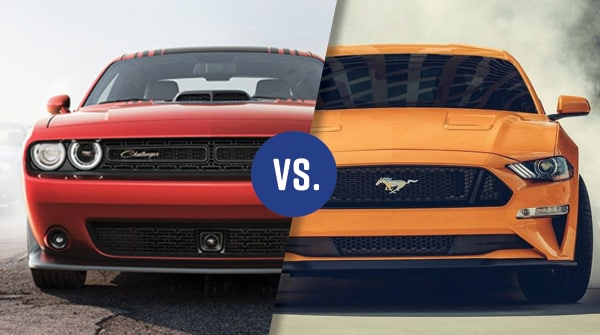 comparison 2018 dodge challenger vs 2018 ford mustang