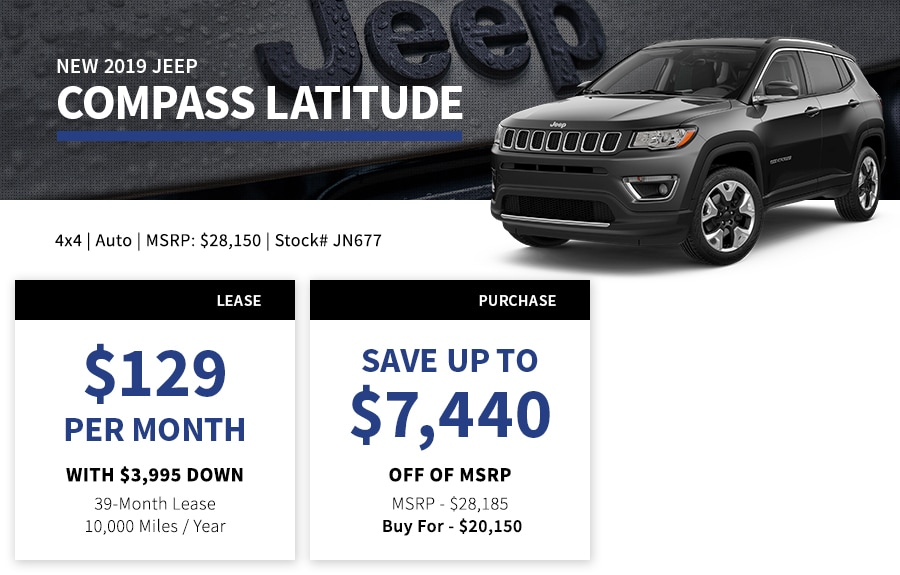 New Jeep Compass Special Offer