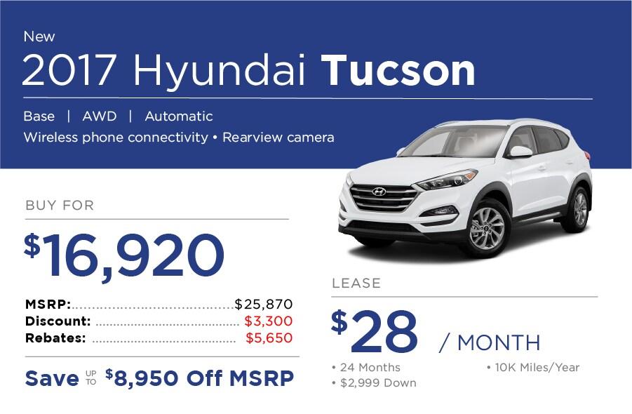 Hyundai Tucson Special Offer