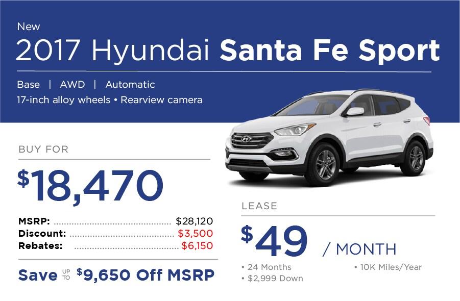 Hyundai Santa Fe Sport Special Offer