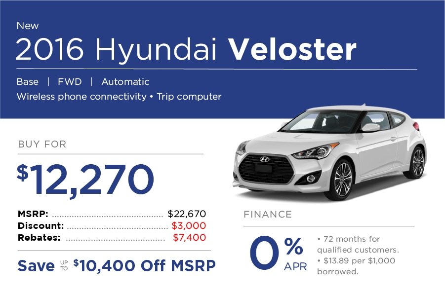 Hyundai Veloster Special Offer