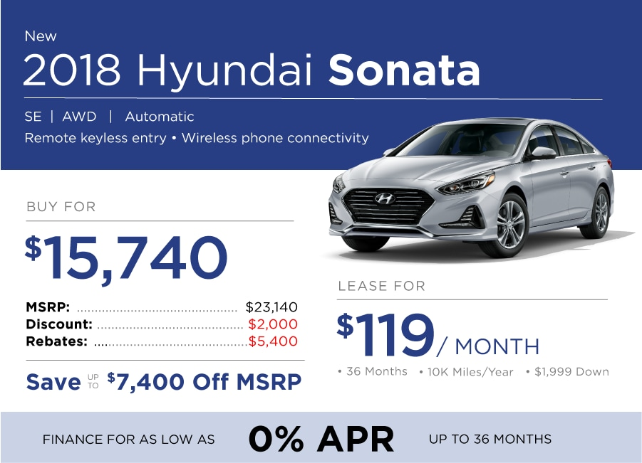 Hyundai Sonata Special Offer