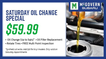 Saturday Oil Change  Special