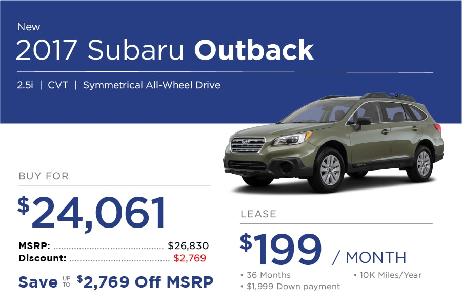 Subaru Outback Special Offer