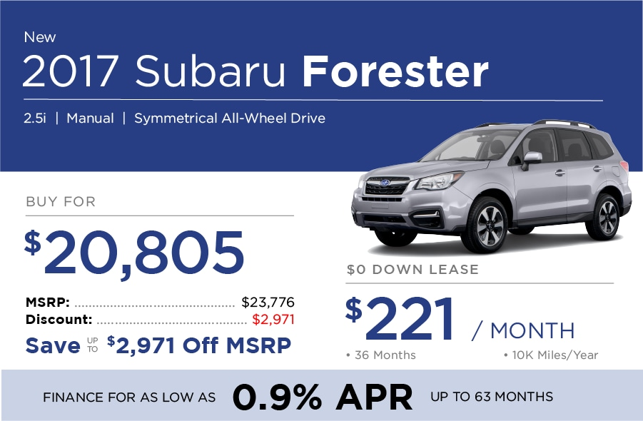 Subaru Forest Special Offer
