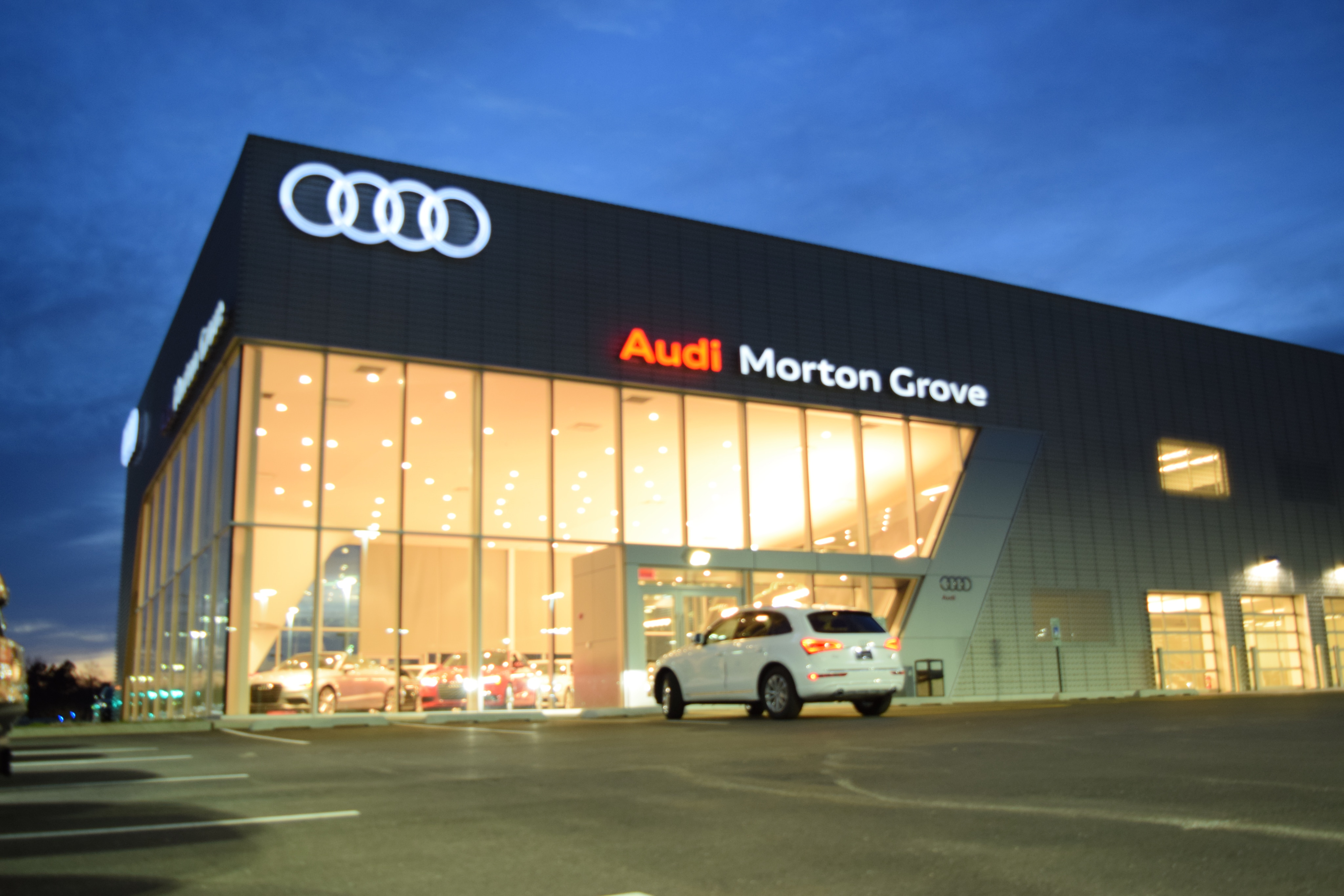 bmw dealership contractors international fields audi expansion and firm construction renovation chicago northfield inc