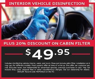 Interior Vehicle Disinfection